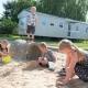 Kids in sand pit