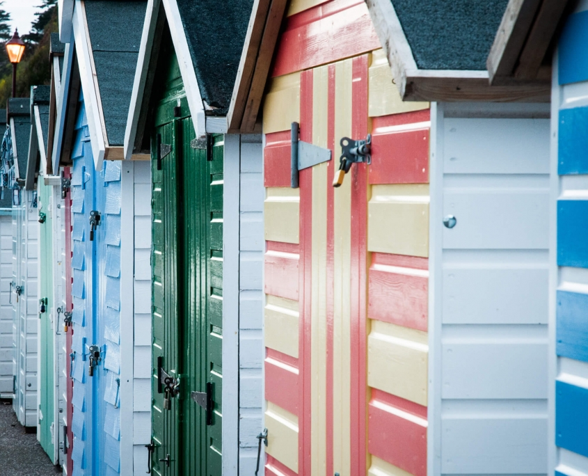 Side beach huts